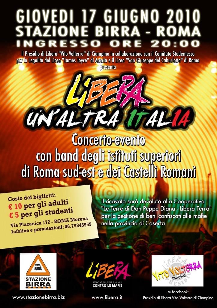 locandina LIBERA UN'ALTRA ITALIA